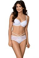 Push-up bra, lace details, subtle pattern, A to G-cup